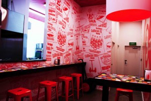 Auckland Signs in Australia wrapped the walls of the California Burrito restaurant chain with Arlon's DPF 207 Digital Print Film, a 6-mil vinyl film with a removable adhesive.  Photos courtesy of Arlon Graphics in Santa Ana, CA.